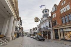 Городской центр Guildford, Суррей, Великобритания Стоковые Фотографии RF