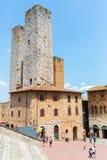 Городской центр San Gimignano, Италии Стоковое Фото
