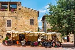 Городской центр San Gimignano, Италии Стоковые Изображения