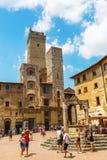 Городской центр San Gimignano, Тосканы, Италии Стоковые Фотографии RF