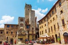 Городской центр San Gimignano, Тосканы, Италии Стоковое Изображение RF
