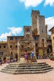 Городской центр San Gimignano, Тосканы, Италии Стоковые Изображения