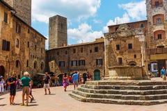 Городской центр San Gimignano, Тосканы, Италии Стоковое Фото