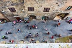 Городской центр San Gimignano, Тосканы, Италии Стоковые Фото