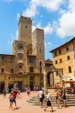 Городской центр San Gimignano, Тосканы, Италии Стоковая Фотография