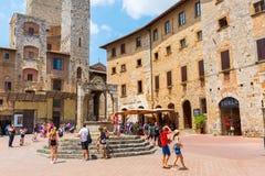 Городской центр San Gimignano, Тосканы, Италии Стоковая Фотография RF