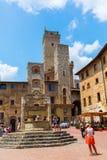 Городской центр San Gimignano, Тосканы, Италии Стоковое фото RF