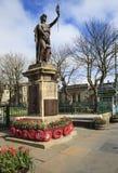 Городской центр Thurso - мемориальный памятник, северная Шотландия Стоковые Фотографии RF