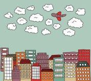 Городской Doodle Стоковое фото RF