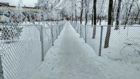 Город снега Стоковая Фотография RF
