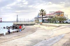 Город Сочи Рыболовы Стоковое Изображение RF