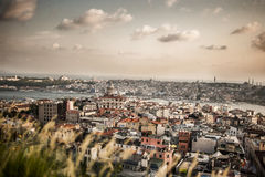 Город Стамбула от высоты Стоковое Изображение