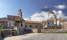 город старый Budva Черногория стоковое изображение