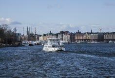Город Стокгольма, гавань стоковая фотография