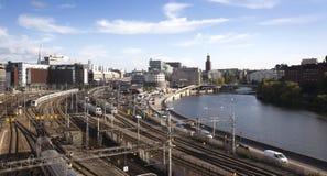 Город Стокгольма Стоковая Фотография RF