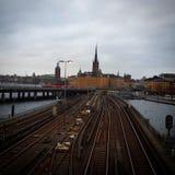 Город Стокгольма Стоковые Изображения RF