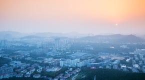 Город сумерк Стоковые Фото