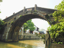 Город Сучжоу, Китай, пятно известного виска Hanshan сценарное стоковое фото