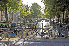 Город сценарный от Амстердам в Нидерландах Стоковое фото RF