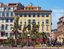 Город славного - архитектура вдоль des Anglais прогулки Стоковые Изображения RF