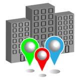 Город с указателями карты бесплатная иллюстрация