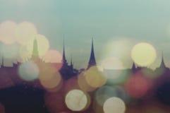 Город Таиланда в bokeh Стоковые Изображения
