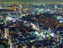 Город токио на ноче стоковая фотография rf