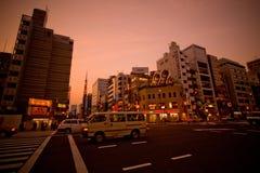 Город токио на сумраке стоковое изображение rf