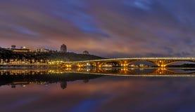 Город упал молчаливая ноча Стоковое Фото