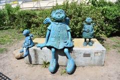 Город установки ангелов в Варшаву Стоковое Изображение
