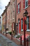 Город Филадельфии старый, дома роскошей Стоковая Фотография RF