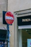 Город Флоренса дорожного знака Стоковая Фотография
