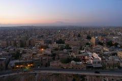 Город Халеба, Сирии, выравнивая взгляд от цитадели Стоковое Изображение RF