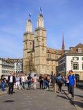 Город Цюриха в Швейцарии в весеннем времени Стоковое Изображение