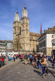 Город Цюриха в Швейцарии в весеннем времени Стоковое Изображение RF