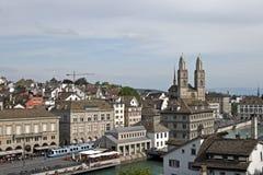 Город Цюриха, Швейцарии Стоковые Изображения RF