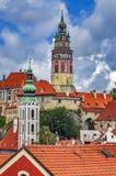Город чеха Krumlov стоковые изображения rf