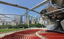 Город Чикаго в Иллинойсе Стоковые Фотографии RF