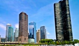 Город Чикаго Стоковые Фотографии RF