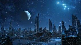 Город чужеземцев иллюстрация штока