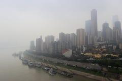 Город Чунцина тумана Стоковые Изображения
