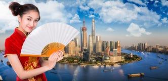 Город Шанхай Стоковые Фотографии RF