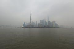 Город Шанхая в зиме ther стоковые изображения rf
