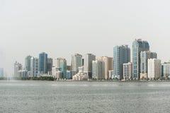 Город Шарджи, ОАЭ Стоковое Изображение RF