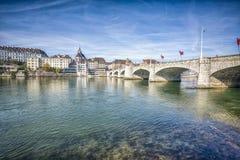 город Швейцария basel Стоковые Фотографии RF