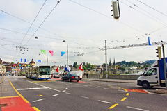 Город Швейцария Luzern моста cke ¼ Seebrà Стоковое фото RF