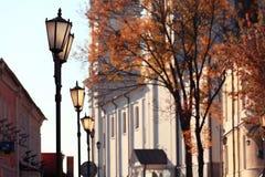 город эстония старый tallinn осени Стоковые Фото