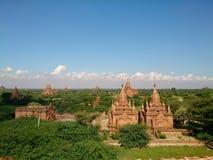 Город Bagan, Мьянма Стоковое фото RF