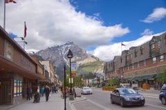 Город Banff в канадских скалистых горах Стоковые Изображения RF