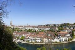 Город Bern как увидено от a далеко Стоковое фото RF